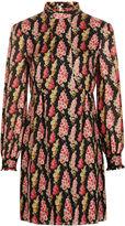 Vilshenko Black Silk Night Blossom Chloe Dress
