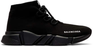 Balenciaga Black Speed Lace-Up Sneakers