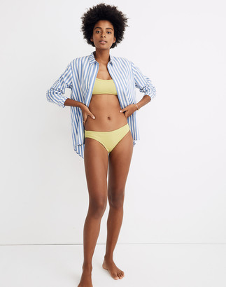Madewell Second Wave Ribbed Classic Bikini Bottom