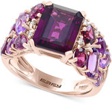 Effy Final Call by Amethyst (1-1/2 ct. t.w.) and Rhodolite (5-1/3 ct. t.w.) and Diamond Accent Ring in 14k Rose Gold