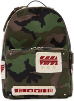 Valentino Green Camo Patches Backpack