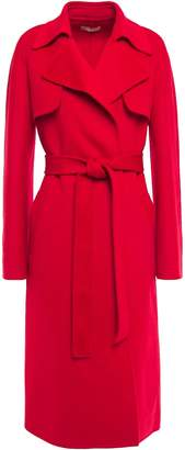 Michael Kors Belted Wool-blend Felt Coat