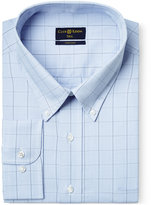 Club Room Big and Tall Wrinkle Resistant Blue Glenplaid Dress Shirt, Only at Macy's
