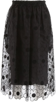 MONCLER GENIUS Moncler X Simone Rocha Daisy Embroidered Lace Circle Skirt