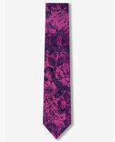 Express slim paisley silk tie
