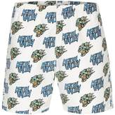 Topman Topman Presents: Felicity Marshall White Skull Motif Pull On Shorts