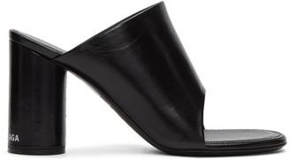 Balenciaga Black Oval Sandals