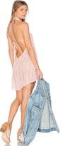 Flynn Skye Ariana Mini Dress in Blush Eyelet