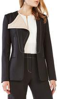 BCBGMAXAZRIA Woven Long Blazer