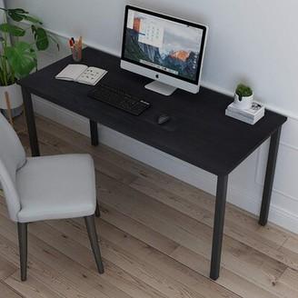 """17 Stories Adiline Desk Color: Black, Size: 51.18"""" H x 26.77"""" W x 26.77"""" D"""