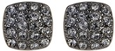 Givenchy Crystal Pave Cushion Stud Earrings