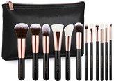 Professional Luxury Rose Gold 12pc Soft Makeup Brush Set - Vintage Rose