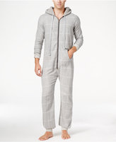 Kenneth Cole Reaction Men's Plaid Flannel Pajama Jumpsuit