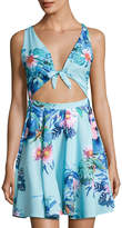 6 Shore Road Waterfront Tie-Front Coverup Mini Dress