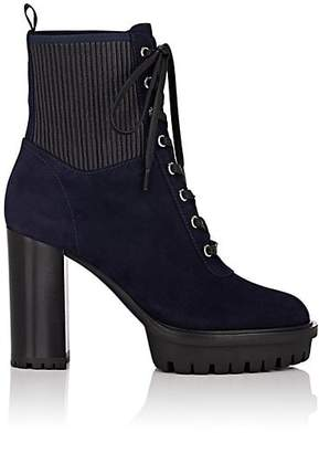 Gianvito Rossi Women's Martis Suede Ankle Boots - Navy