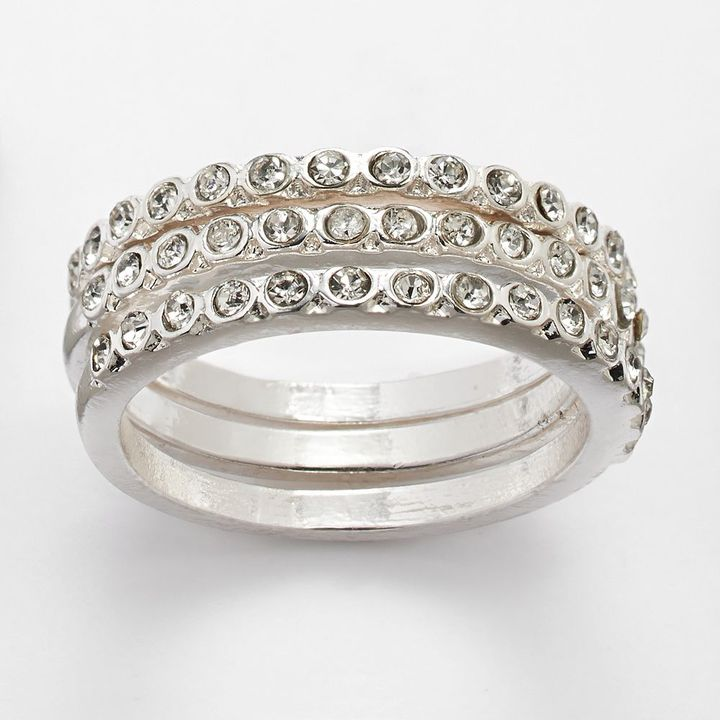 Lauren Conrad stack ring set
