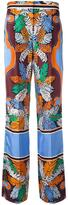 Emilio Pucci printed wide leg pants - women - Silk - 40