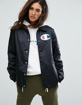 Champion Coach Jacket With Chest Logo