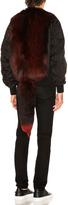 Givenchy Nylon Fox Fur Bomber