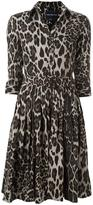 Samantha Sung animal print shirt dress