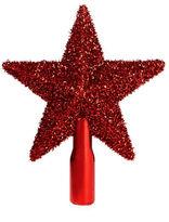 Glucksteinhome Woodland Sparkle Tinsel Star Tree Topper