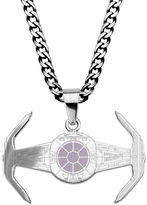 Star Wars FINE JEWELRY Mens Stainless Steel TIE Fighter Pendant Necklace