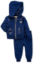 Juicy Couture Infant Girls) Two-Piece Sequin Embellished Zip-Up Hoodie & Sweatpants Set