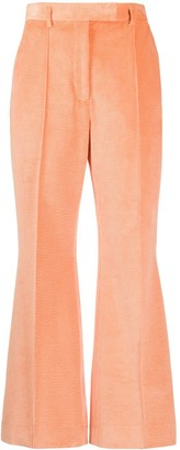 Acne Studios Flared Cropped Corduroy Trousers