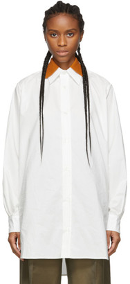 Plan C White Oversized Shirt