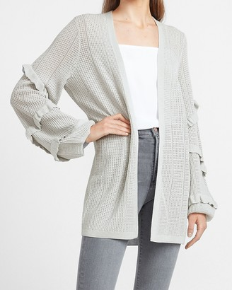 Express Ruffle Sleeve Cardigan