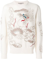 Ermanno Scervino dragon embroidered sweater - men - Cashmere - 50