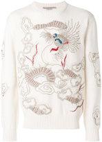 Ermanno Scervino dragon embroidered sweater