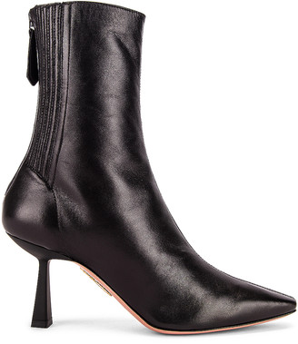 Aquazzura Curzon 75 Bootie in Black | FWRD