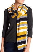 David & Young Striped Rib Knit Scarf