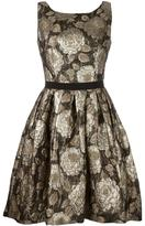 Christian Pellizzari floral jacquard dress