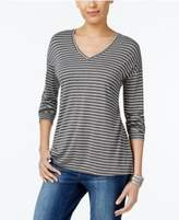 Style&Co. Style & Co Striped Long-Sleeve T-Shirt, Only at Macy's