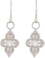 Jude Frances Provence 18K Open Flower Diamond & Topaz Dangle & Drop Earrings