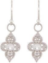 Jude Frances Provence 18K Open Flower Diamond & Topaz Dangle & Drop Earrings