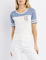 Charlotte Russe Girl Pwr Football Tee
