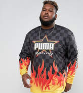 Puma PLUS Long Sleeve Top With Flame Print Exclusive To ASOS