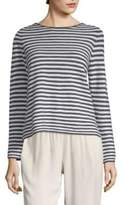 Eileen Fisher Stripe Boatneck Sweater
