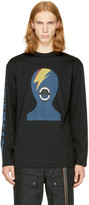 Miharayasuhiro Black Long Sleeve Face T-shirt