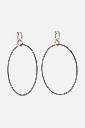 Spinelli Kilcollin Altaire Noir 18-karat White And Rose Gold And Rhodium-plated Earrings - Silver