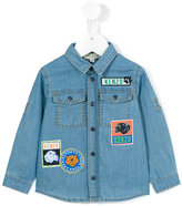 Kenzo patch denim shirt - kids - Cotton - 24 mth