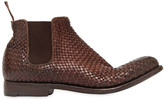 Alberto Fasciani Braided Buffalo Leather Ankle Boots