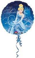 Amscan 18 Inch Disney Cinderella Sparkle Circular Foil Balloon