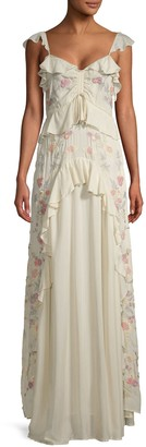 Love Sam Ruffled Maxi Dress