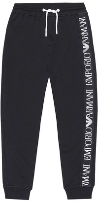 Emporio Armani Kids Logo cotton trackpants
