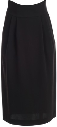 P.A.R.O.S.H. Skirt Long Crepe Cady W/belt