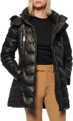 Andrew Marc Pomona Faux Fur Trim Down Puffer Jacket